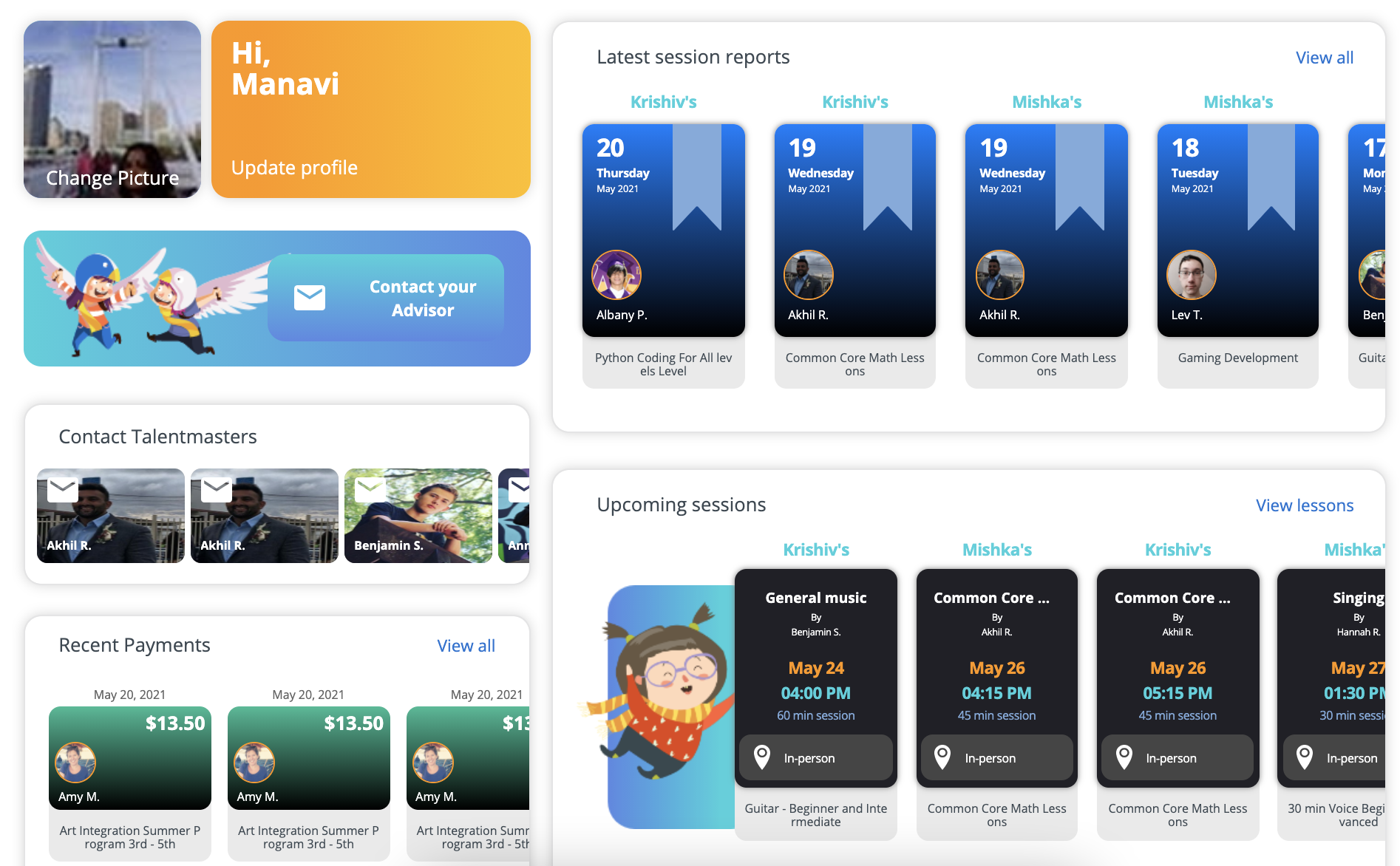Track your child's progress with Talentnook's Post-Session Student Report